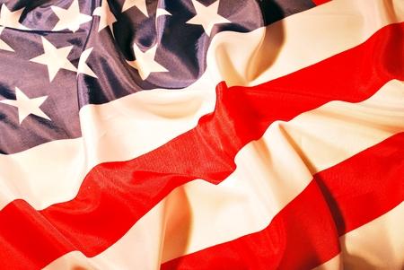 symbolic: Closeup of American flag