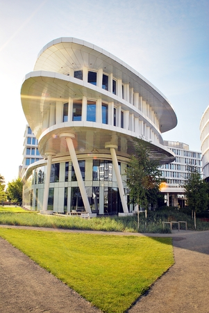 Warsaw, Poland.2 June 2017.Business Garden complex.Seven independent buildings characterized by original architecture and an internal green garden. More than 90000 m² of modern office and amenity space Editorial