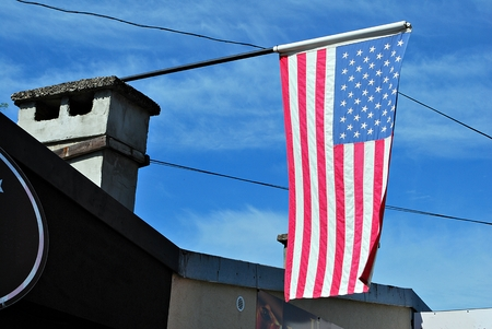 imperialism: American flag on a house