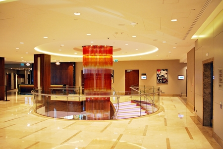 Warsaw, Poland. 10 June 2017. DoubleTree by Hilton Hotel & Conference Center Warsaw. Modern interiors of the hotel. Editorial