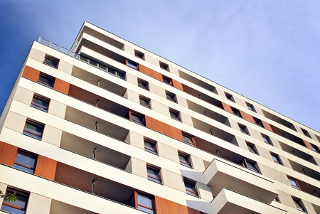 faade: Modern apartment buildings exteriors Stock Photo
