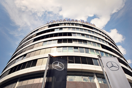Mercedes Benz Is A High End Office Building With 10 Storeys. The Office  Lease Area Is 14,000 Sqm. The Building Is A Modern Conference And Training  Center.