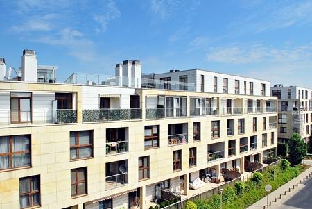 prestigious: Warsaw, Poland 12 July 2017. Wilanow township. Modern residential area in the prestigious district of Warsaw.