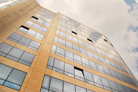 Modern office building. Architectural details of modern building