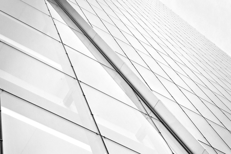 Modern office building.Black and white. Stock Photo
