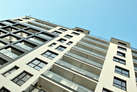 balcony: Modern, Luxury Apartment Building