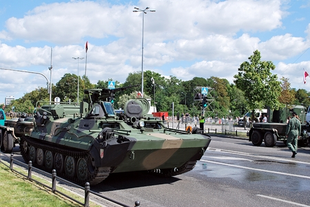 Warsaw, Poland.15 August 2017. Military parade in Warsaw on the occasion of the Polish Army Day.