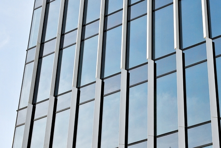 mirror frame: Modern office building. Stock Photo