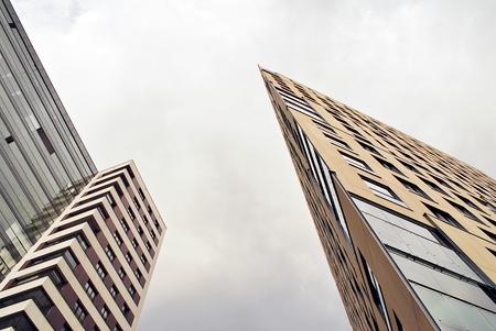 現代、青空高級マンション 写真素材