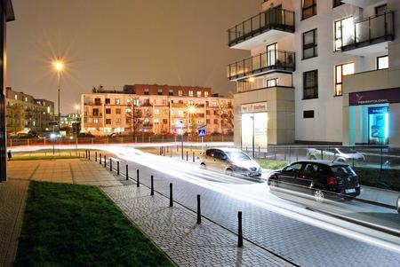 prestigious: Warsaw, Poland. 6 November 2017.Mideczko Wilanow. Modern residential area in the prestigious district of Warsaw.