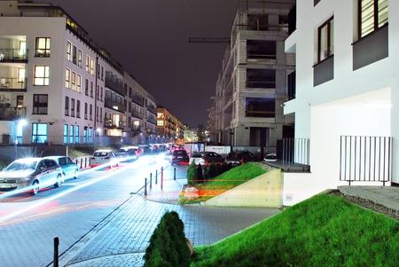 Warsaw, Poland. 6 November 2017.Mideczko Wilanow. Modern residential area in the prestigious district of Warsaw.