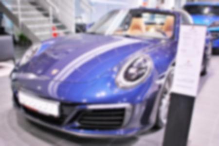 Rozmycie obrazu samochodu w salonie Zdjęcie Seryjne