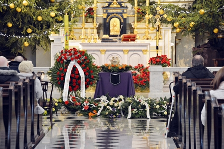 Funeral ceremony in church
