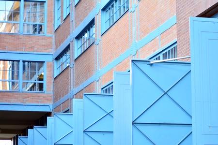 Revitalized red brick buildings