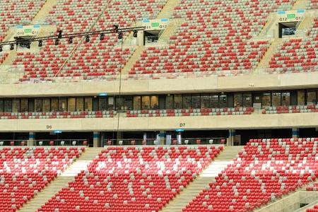 Warsaw, Poland. 23 May 2018. Details of Tribunes of Warsaw National Stadium