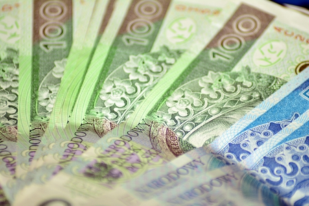 Background made from polish money banknotes Banco de Imagens - 110749228