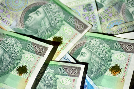 Background made from polish money banknotes Banco de Imagens - 110749187
