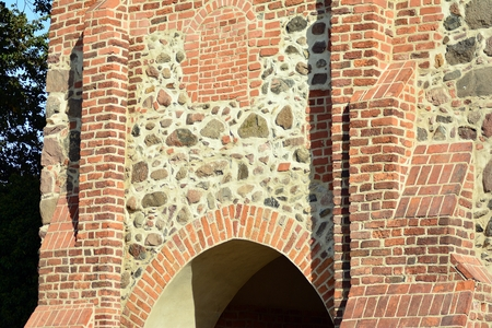 Fragment of the fortress wall with the entrance gates