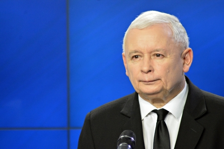 Warsaw, Poland. 6 November 2018..Leader of Poland's ruling party Law and Justice, Jaroslaw Kaczynski, attend a press conference Éditoriale