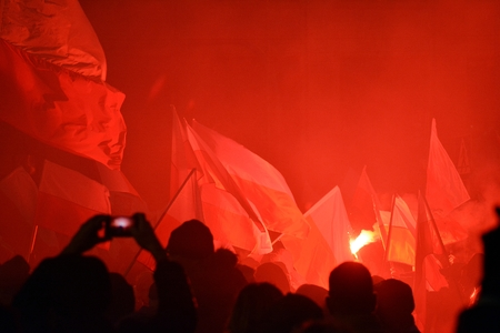 Warsaw, Poland November 11, 2018, 200,000 people participated in the government. Nationalist groups also participated.