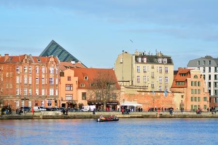 Gdansk, Poland .19 January 2019. Old town of Gdansk at Motlawa river.