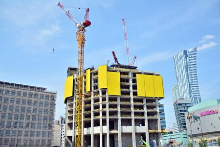 Warsaw, Poland. 15 June 2019. Construction of the Varso Place office building. Imagens - 128668198
