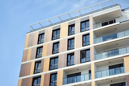 Modern European residential apartment buildings quarter. Stok Fotoğraf
