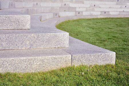 Close up on granite stairs details