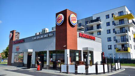 Warsaw, Poland. 24 August 2019. Fast food restaurant Burger King. Editorial
