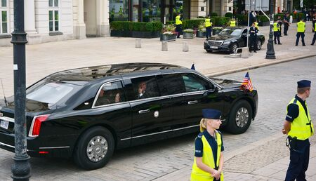Warsaw, Poland. September 2, 2019. US presidential Cadillac limousine (known as the