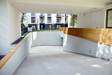 Entrance to parking or underground garage