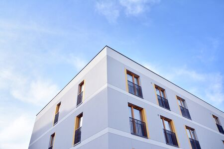 Contemporary apartment building. Generic residential architecture.