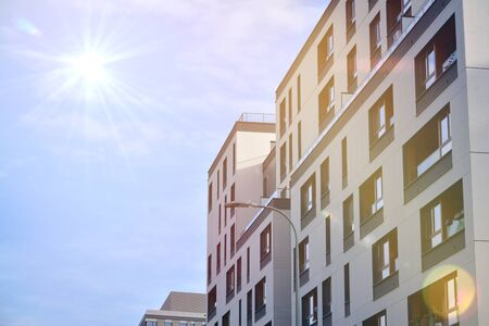 New apartment building with sun light 스톡 콘텐츠