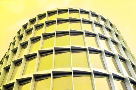 Modern architecture duo tone background. Geometric background Stock Photo