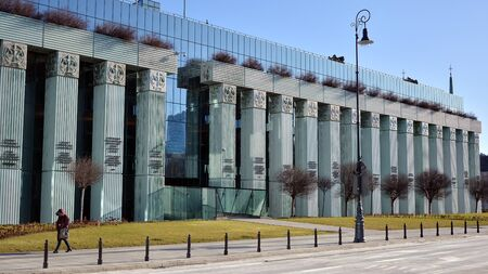 Warsaw, Poland. January 7, 2020. Modern building of Supreme Court of Poland. The highest instance of the Court in Poland. Sajtókép