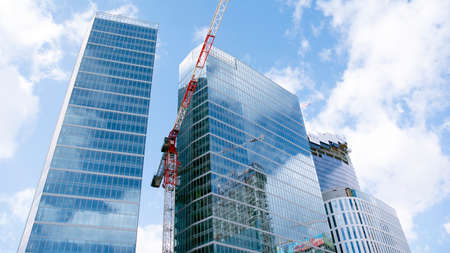 Warsaw, Poland. March 13, 2020. Construction of the Warsaw Hub. The Warsaw HUB will comprise 75,000 square meters of office space