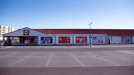 Warsaw, Poland. 15 March 2020. Lidl Supermarket Sajtókép