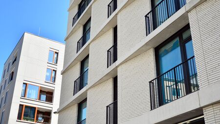 Modern residential architecture in summer. Modern city. Stock fotó