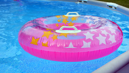 Inflatable wheel in the pool - pool wheels on the water