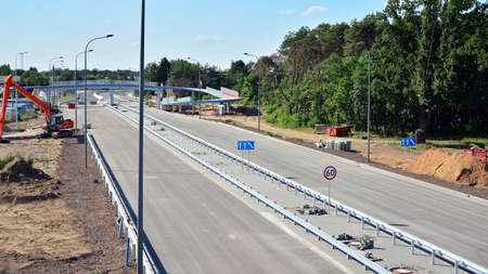 View of the new highway under construction. 写真素材