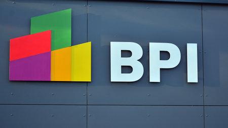 Warsaw, Poland. 27 December 2020. Sign BPI. Company signboard BPI. Editöryel