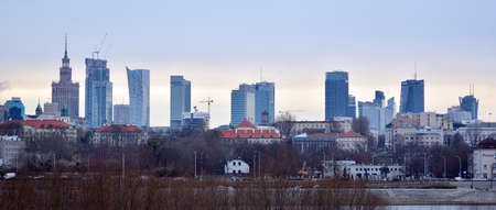 Warsaw, Poland. 28 December 2020. This is a view of Warsaw, the capital city of Poland. Editöryel