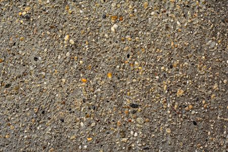 macadam: grey gravel or concrete with small pieces of colourful stones
