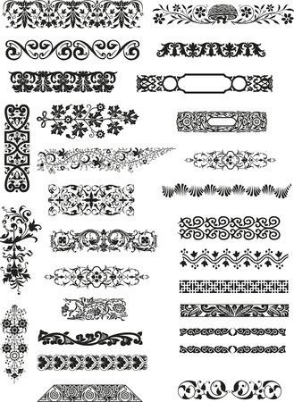 motive: horizontale Ornamente  Illustration