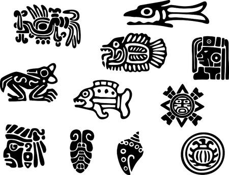 Mexicaanse of maya motieven