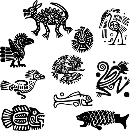Mexican or maya motifs Stock Vector - 9331744