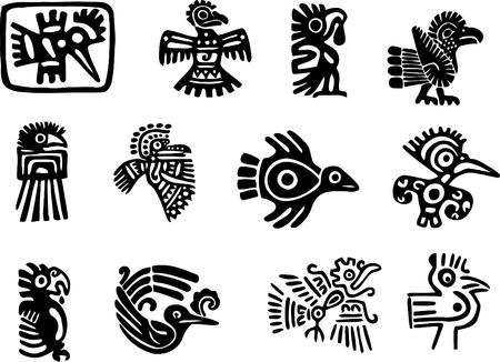 maya: Motivos mexicana o maya Vectores