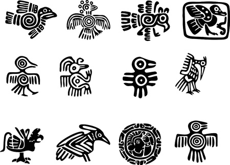 old ruin: Mexican or maya motifs