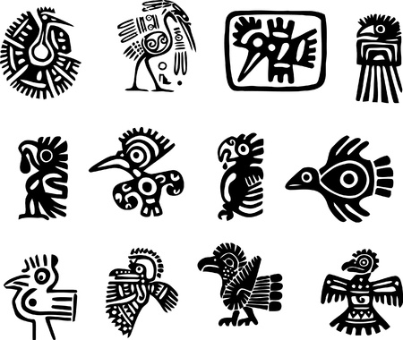 Mexican or maya motifs Stock Vector - 9331748