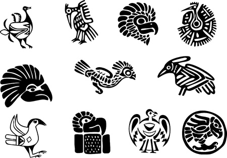 Mexican or maya motifs Vector